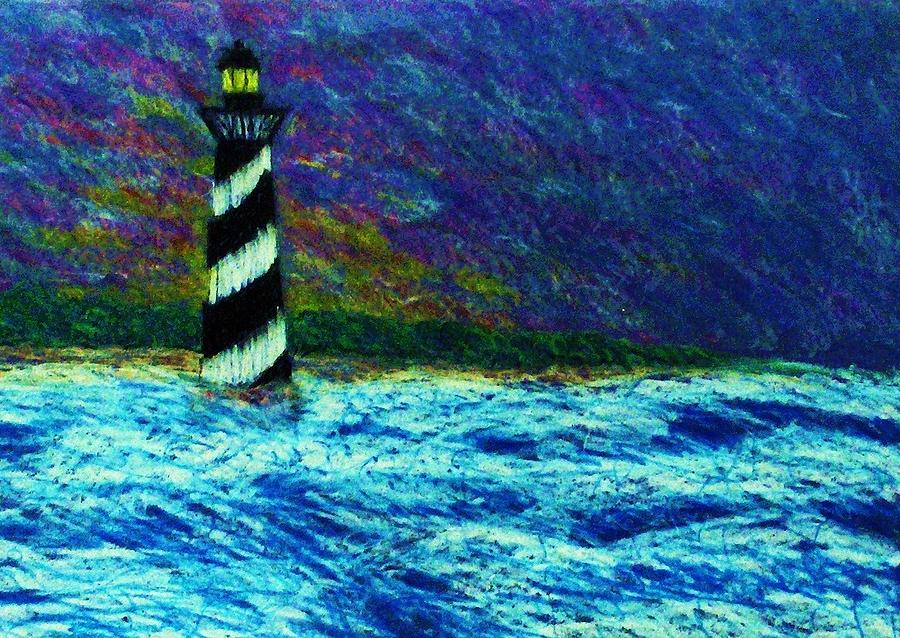 Light House Painting - Cape Hetteras Light House by Jeanette Stewart