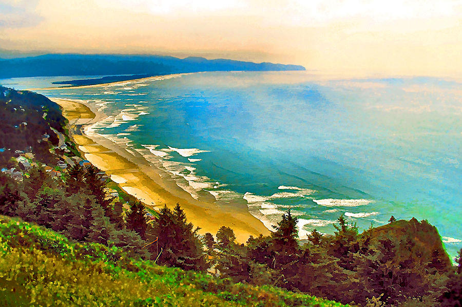 Cape Lookout Photograph - Cape Lookout From Oceanside by Margaret Hood