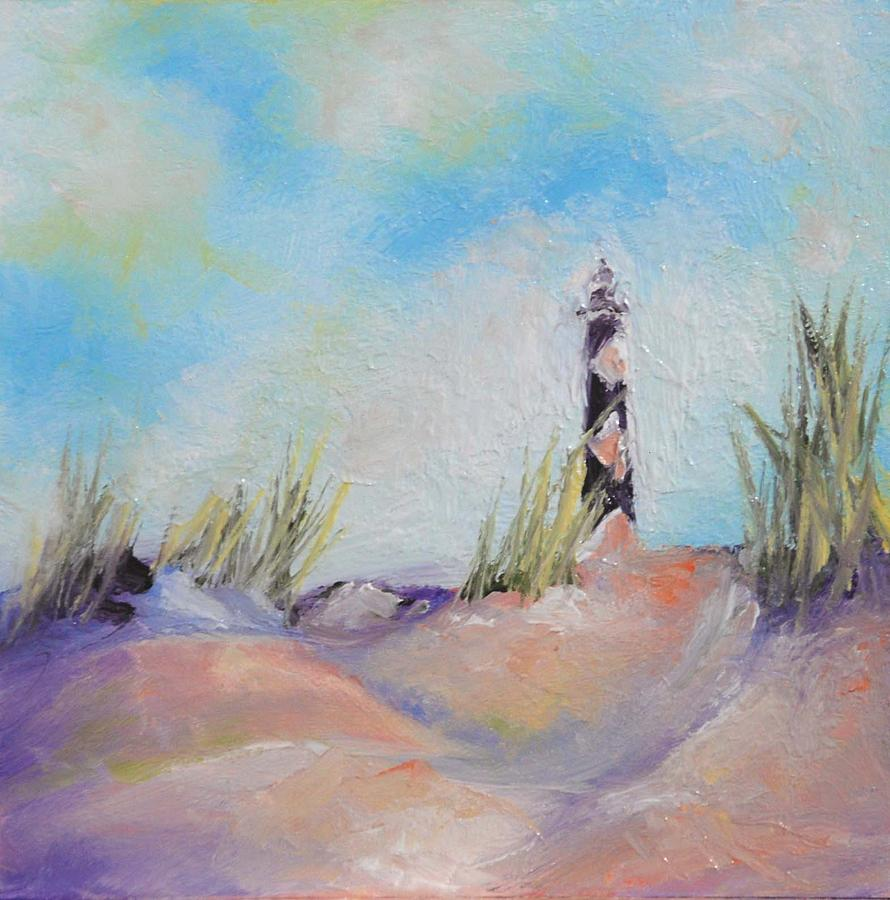 Lighthouse Painting - Cape Lookout Lighthouse by Donna Pierce-Clark