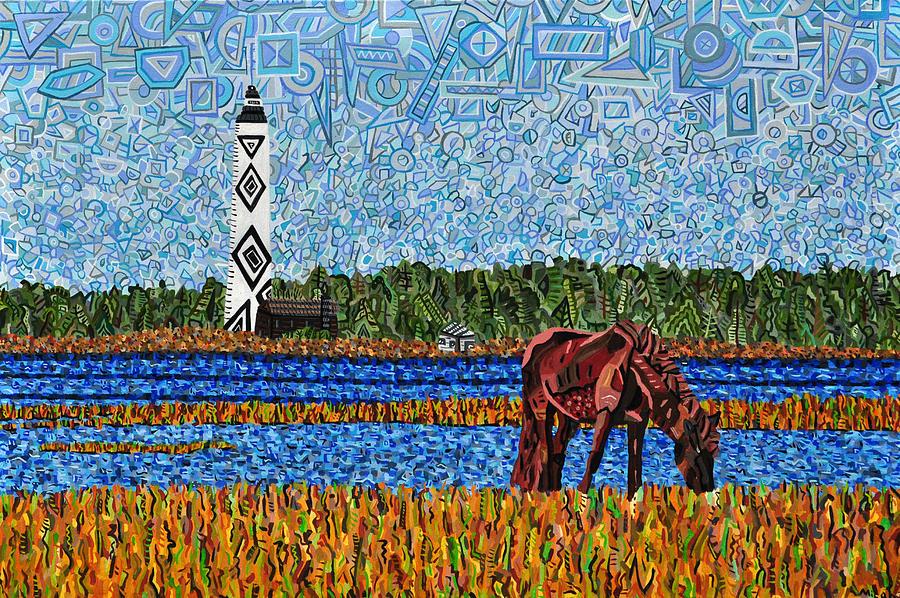 Cape Lookout Painting - Cape Lookout by Micah Mullen
