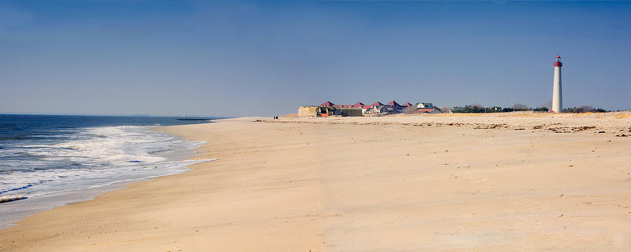 Architecture Photograph - Cape May Beach Panorama New Jersey by George Oze