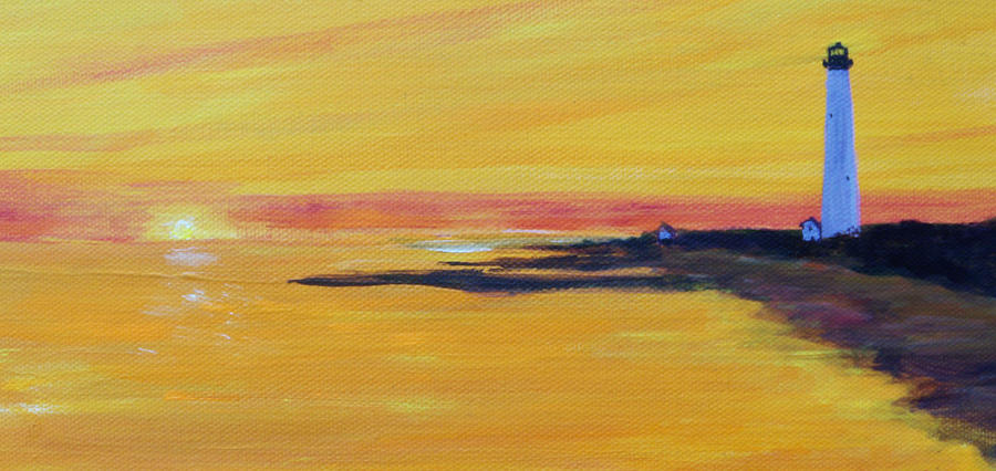 Cape May Lighthouse Painting - Cape May Lighthouse by Anne Marie Brown