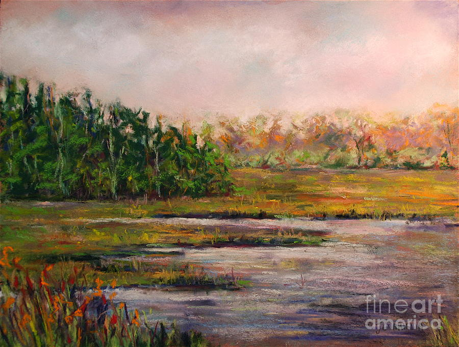 Landscape Pastel - Cape May Marsh by Joyce A Guariglia