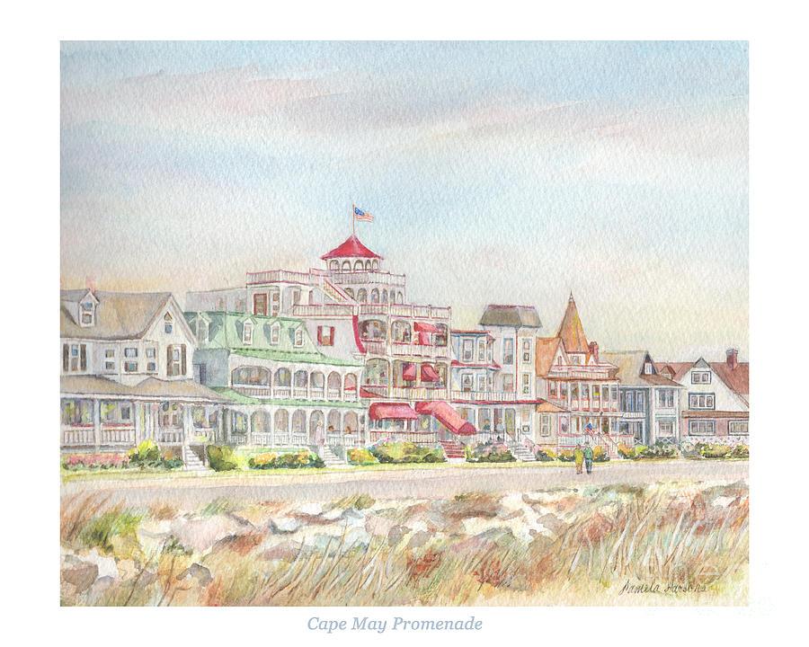 Cape May Promenade, Jersey Shore Painting