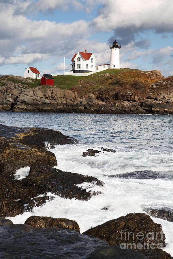 Cape Neddick Photograph - Cape Neddick Lighthouse by Bryan Attewell