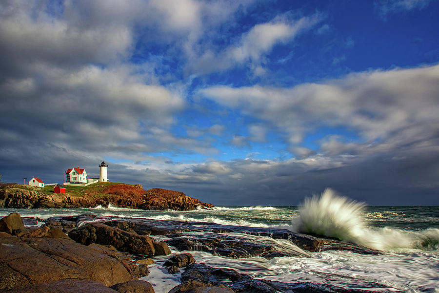 Maine Photograph - Cape Neddick Lighthouse by Rick Berk