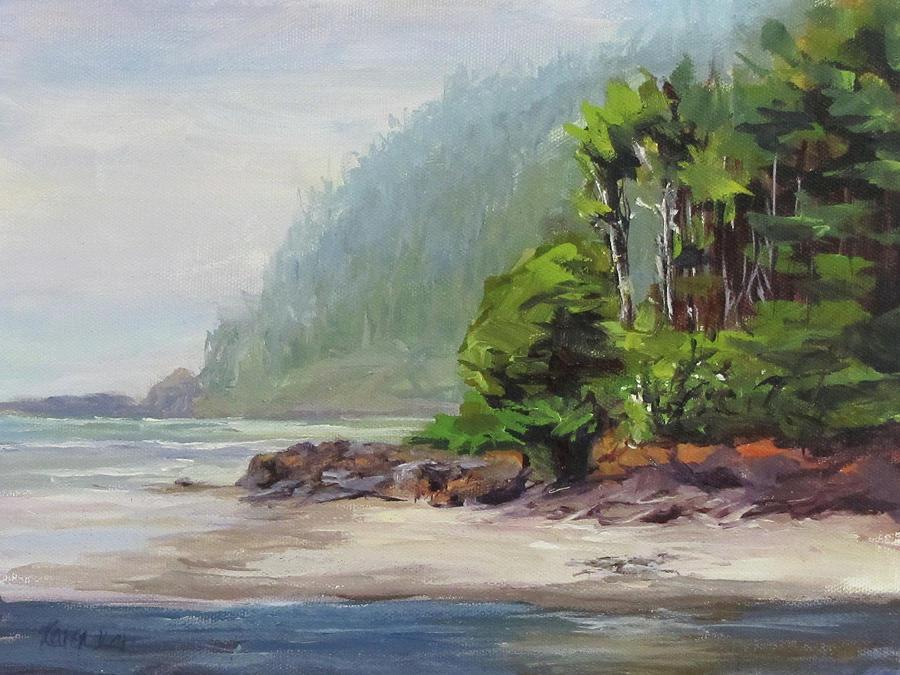 Beach Painting - Cape Perpetua by Karen Ilari