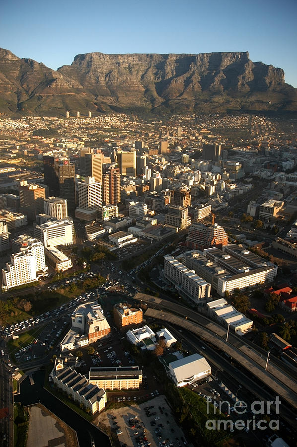 Cape Town Photograph - Cape Town From The Air by Andy Smy