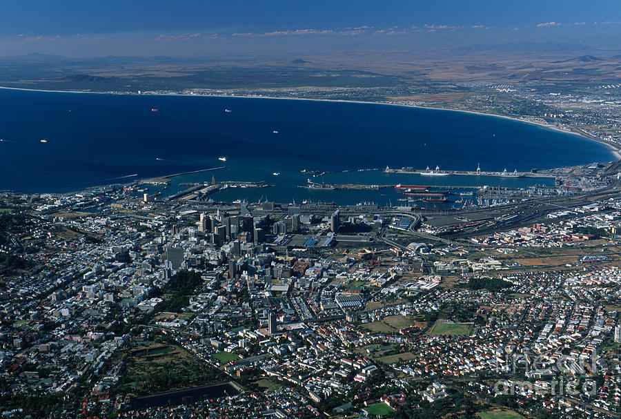 Capetown Photograph - Capetown South Africa Aerial by Sandra Bronstein