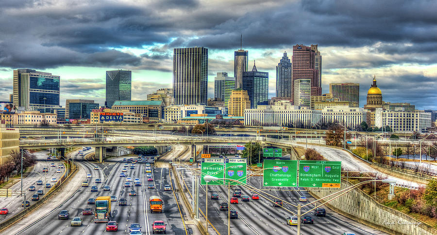 Capital Of The South Photograph - Capital Of The South Atlanta Skyline Cityscape Art by Reid Callaway
