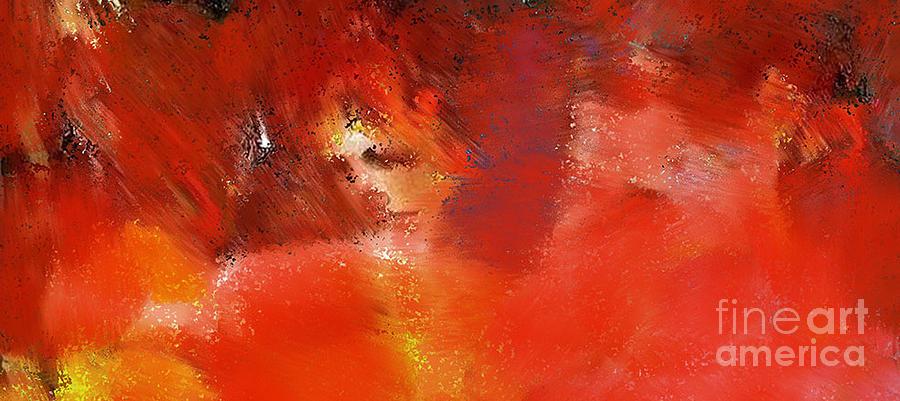 Rouge Digital Art - Capitalisme Liberal by Degouges Cindy