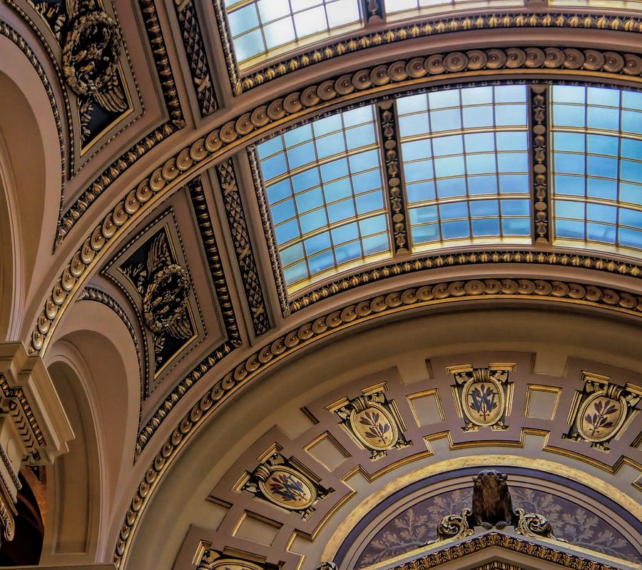 Wisconsin State Capitol Photograph - Capitol Architecture by Jenny Hudson