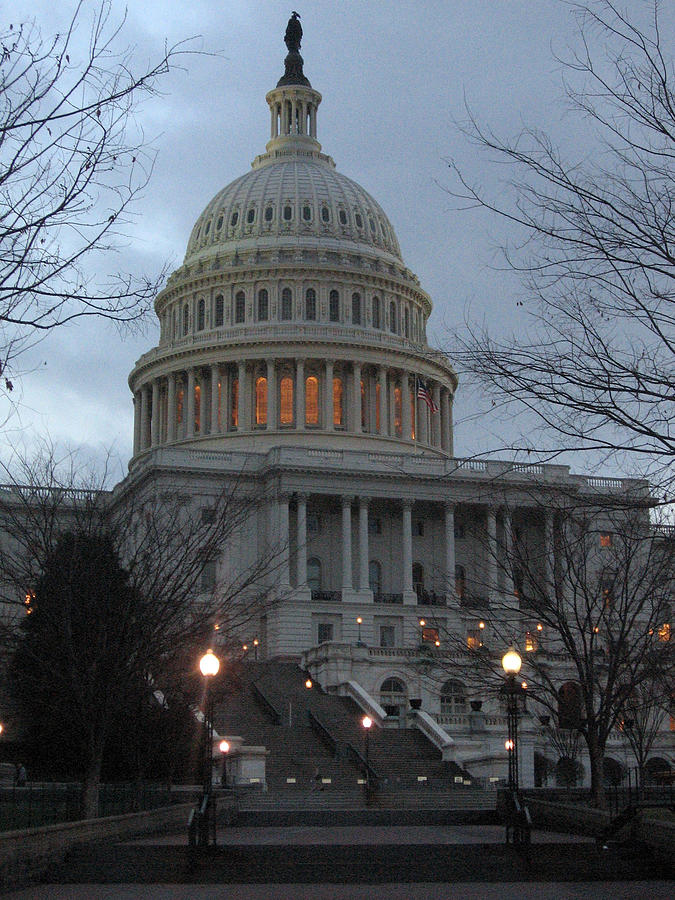 Capitol Photograph - Capitol At Dusk by Sean Owens