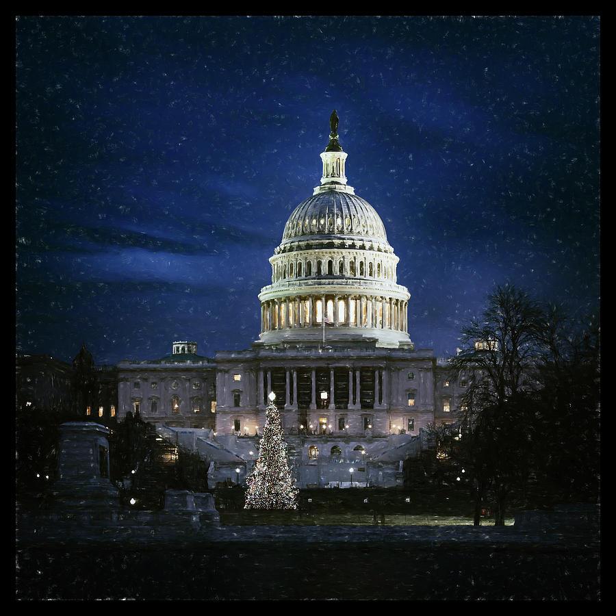 Christmas Photograph - Capitol Christmas by Robert Fawcett