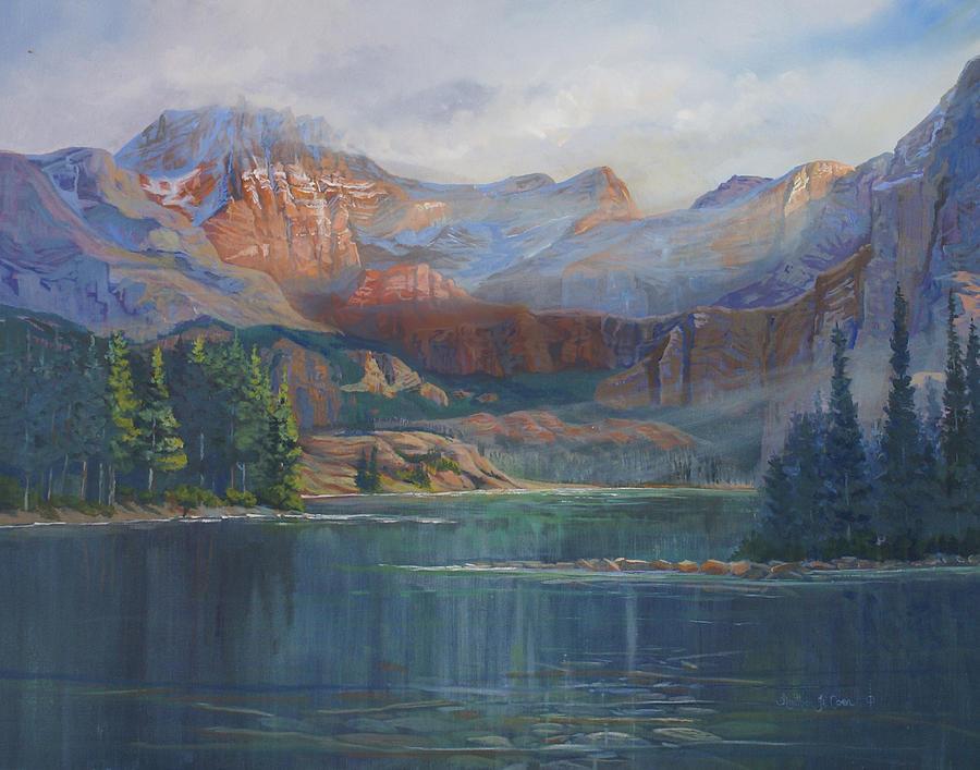 Capital Peak Painting - Capitol Peak Rocky Mountains by Heather Coen