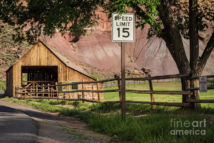 Capitol Reef Barn - Gifford Homestead by Gary Whitton