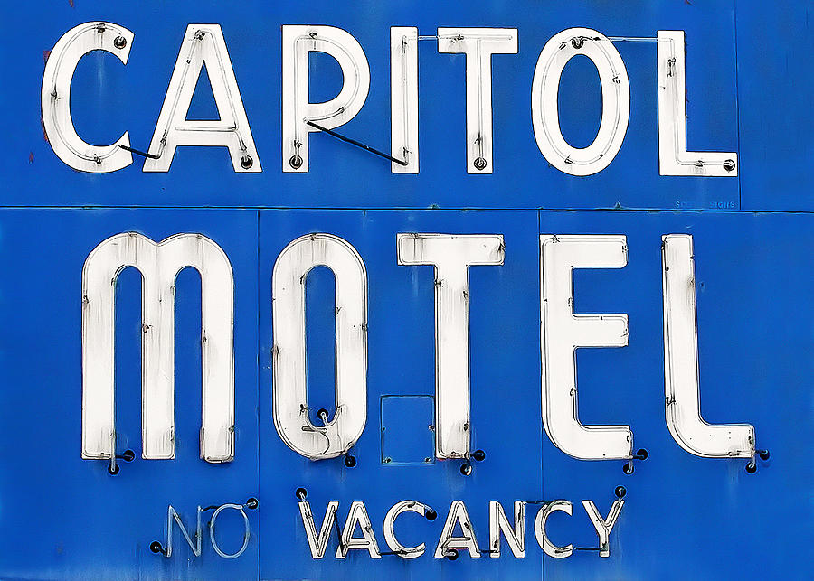 Lettering Photograph - Capitol Sign by Todd Klassy