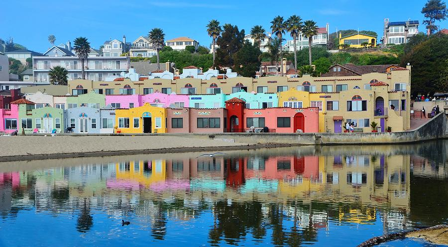 Capitola California Colorful Hotel by Marilyn MacCrakin
