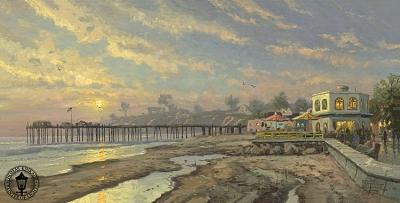 Capitola Sunset Painting by Thomas Kinkade