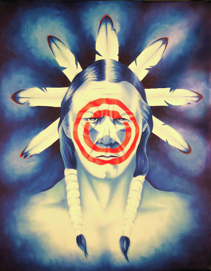 Chief Painting - Capn Native America by Robert Martinez