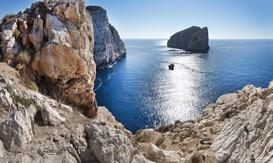 Cliffs Photograph - Capo Caccia by Robert Lacy