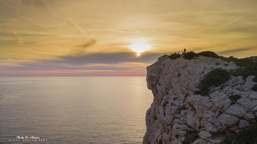Sardinia Photograph - Capo Caccias Cliff by Nicola Maria Mietta