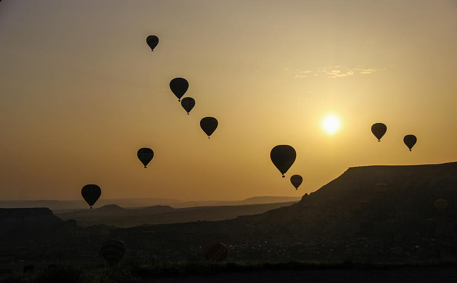Hot Air Balloons Photograph - Cappadocia Sunrise by Freepassenger By Ozzy CG