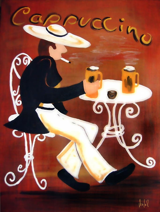 Cappuccino Painting - Cappuccino by Helmut Rottler