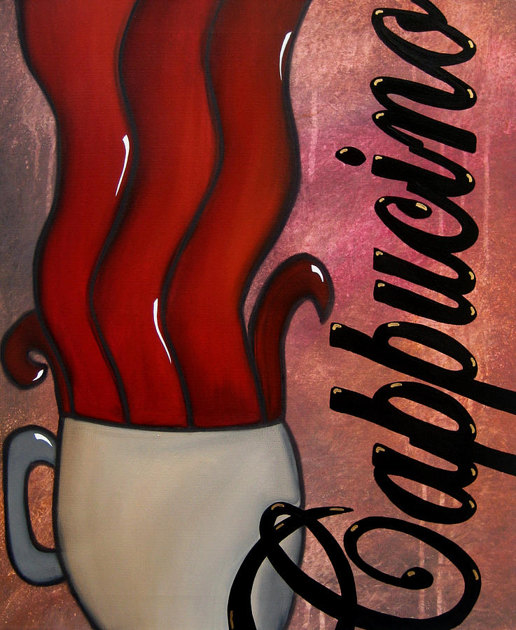 Abstract Art Paintings Painting - Cappucino by Tom Fedro - Fidostudio