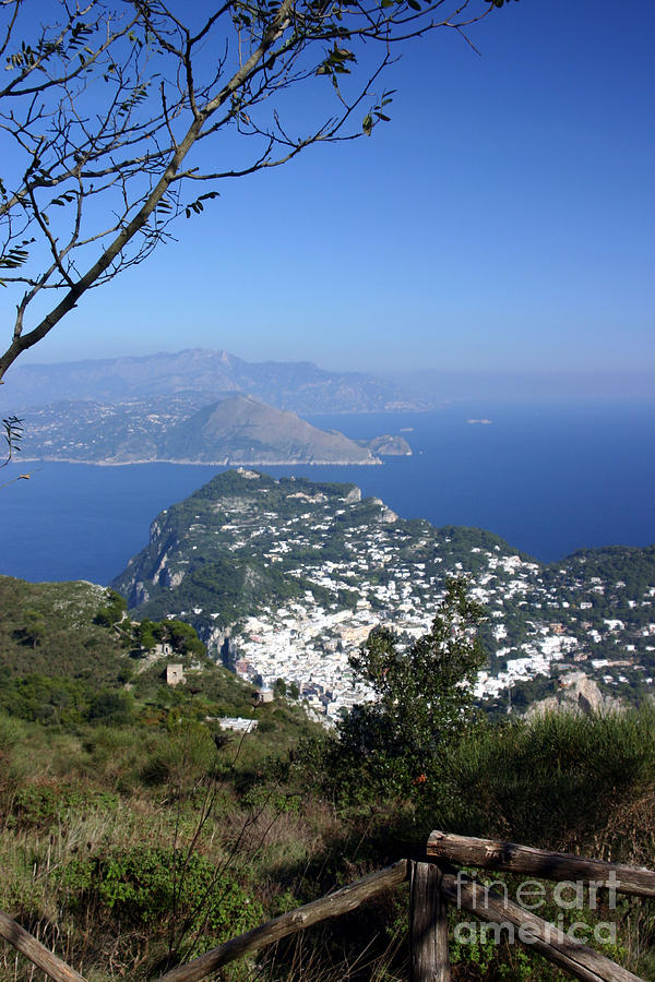 Landscape Photograph - Capri At The Top by Dennis Curry