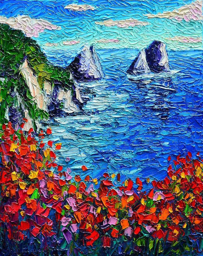 Capri Faraglioni 2 Italy Colors Modern Impressionist