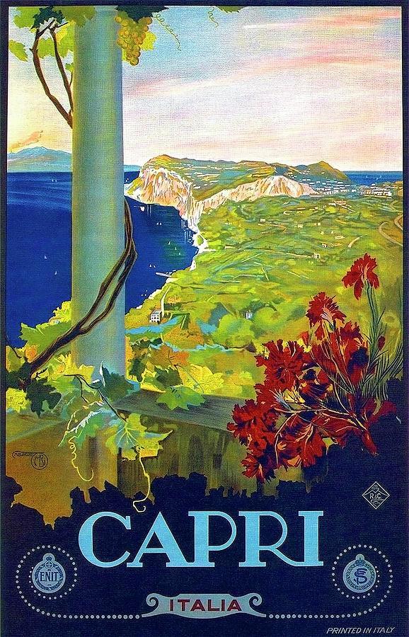 Capri Painting - Capri, Italy, Italian Riviera, Scenery by Long Shot