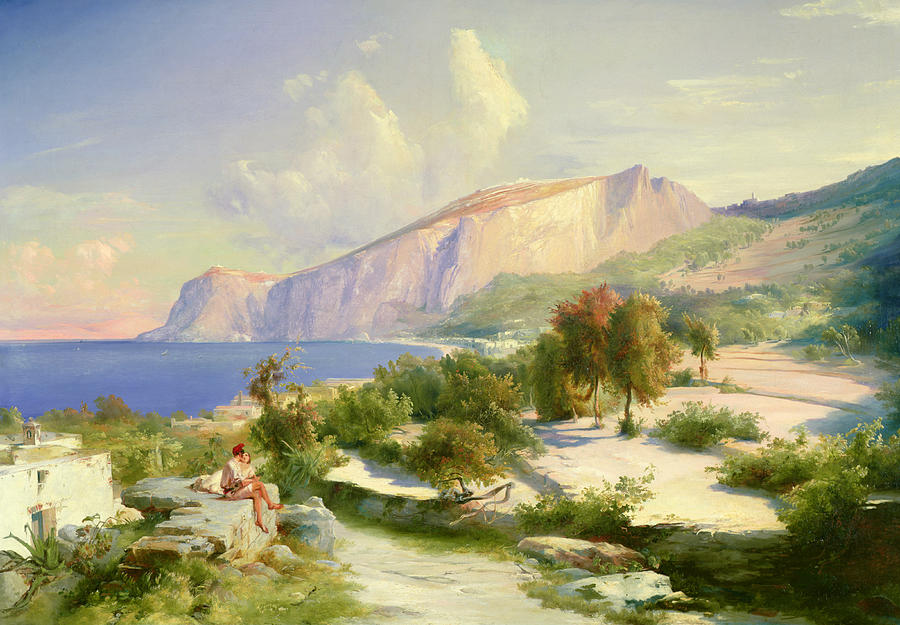 The Painting - Capri by Karl Blechen