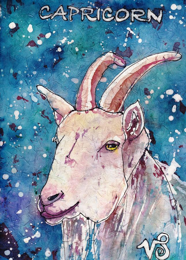 Zodiac Painting - Capricorn by Ruth Kamenev
