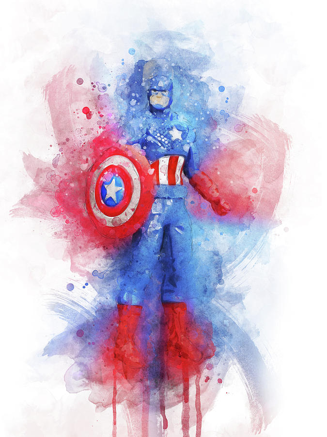 Captain America Digital Art