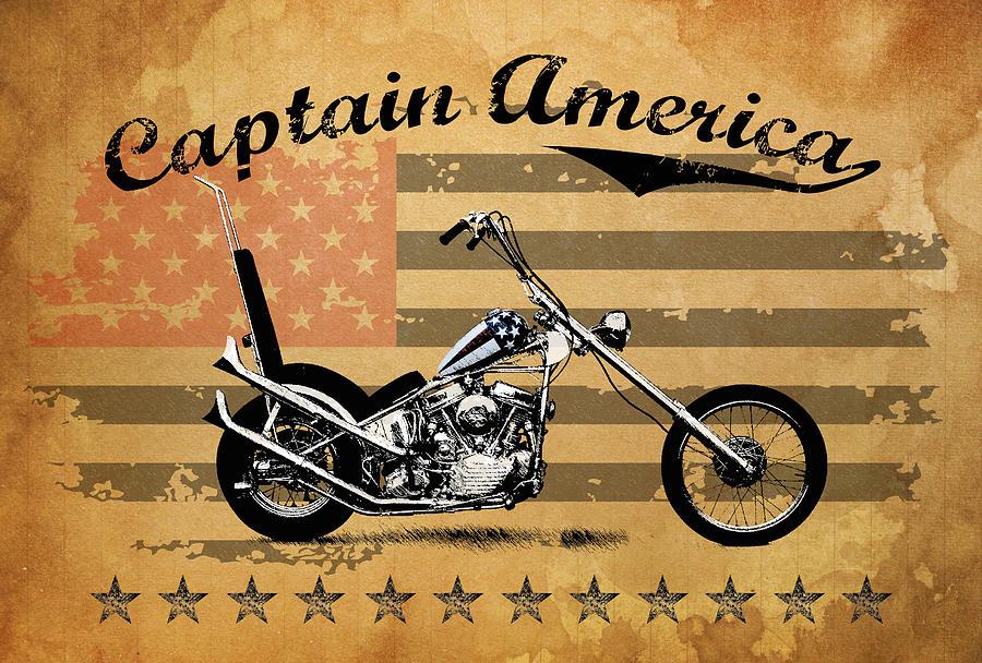 Captain America Photograph - Captain America by Mark Rogan