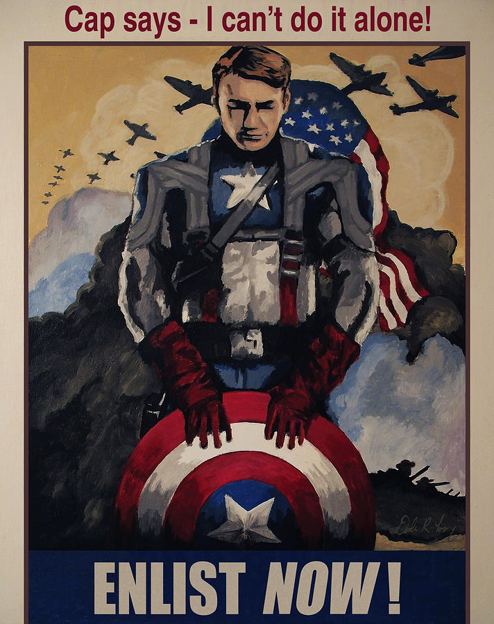 Avengers Painting - Captain America Recruiting Poster by Dale Loos Jr