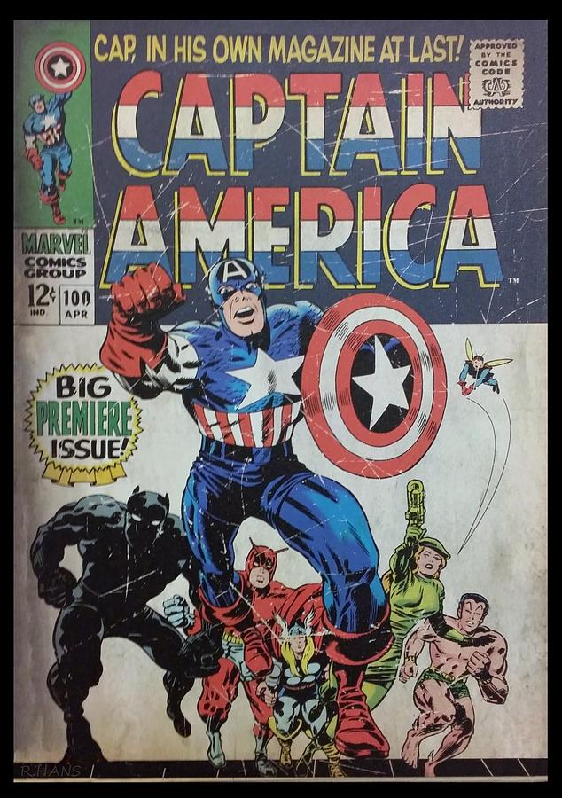 Captain America Photograph - Captain America  by Rob Hans