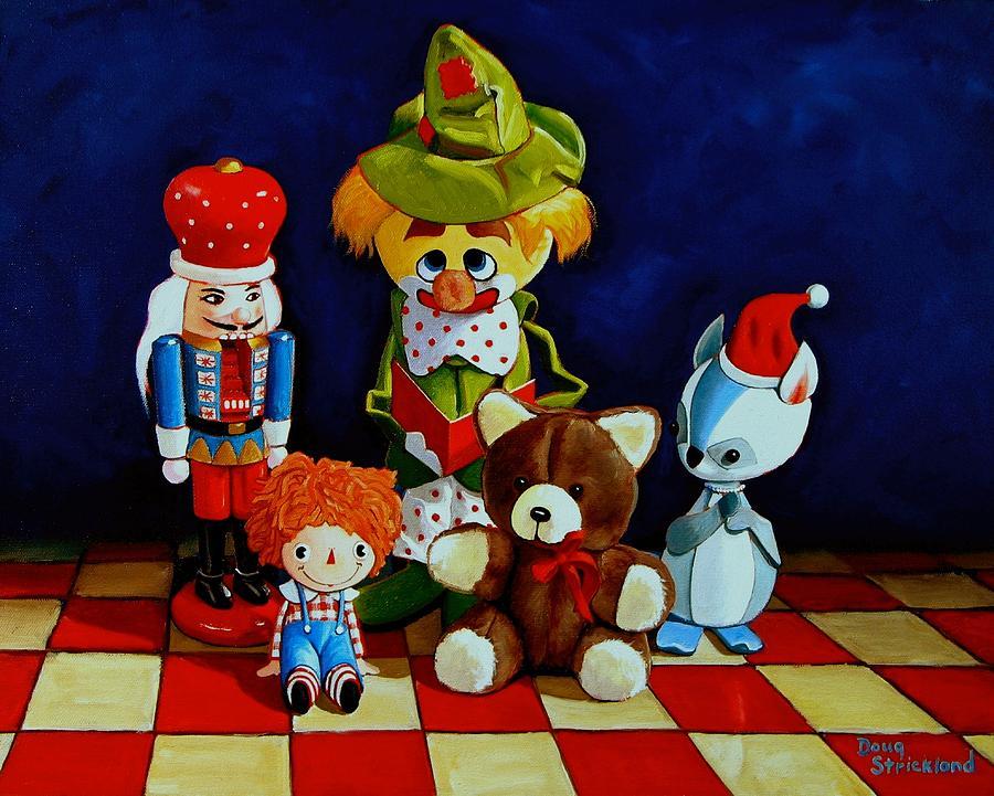 Christmas Painting - Captain Candycorns Dollhouse Choir by Doug Strickland