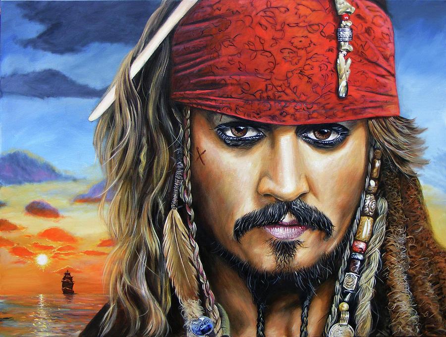 Jack Sparrow Painting - Captain Jack by Arie Van der Wijst