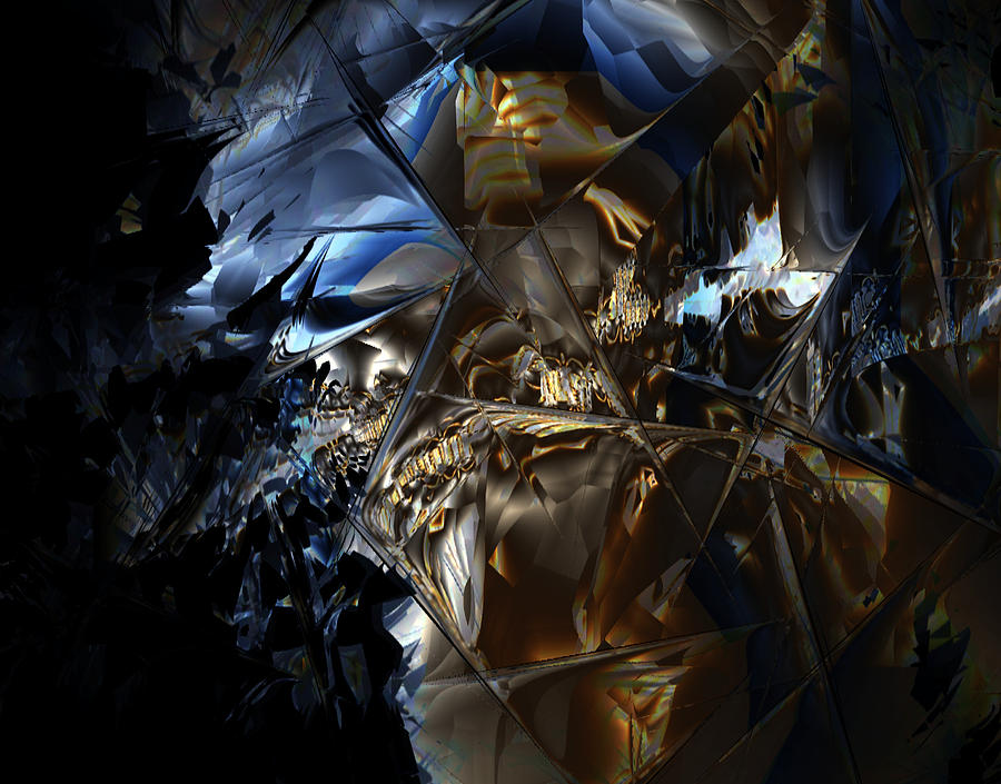 Abstract Digital Art - Captain Jack by Vadim Epstein