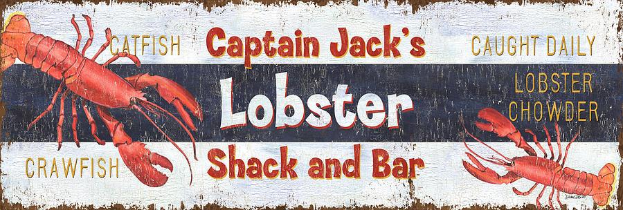 Lobster Painting - Captain Jacks Lobster Shack by Debbie DeWitt