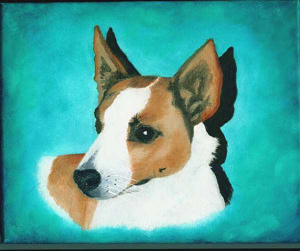Jack Russell Painting - Captain James T. Kirk by Nancy Waller