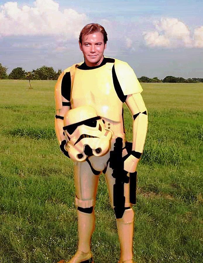 Star Wars Painting - Captain James T Kirk Stormtrooper by Paul Van Scott