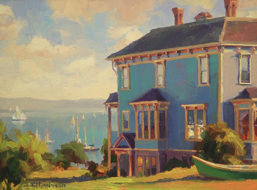 Coast Painting - Captains House by Steve Henderson