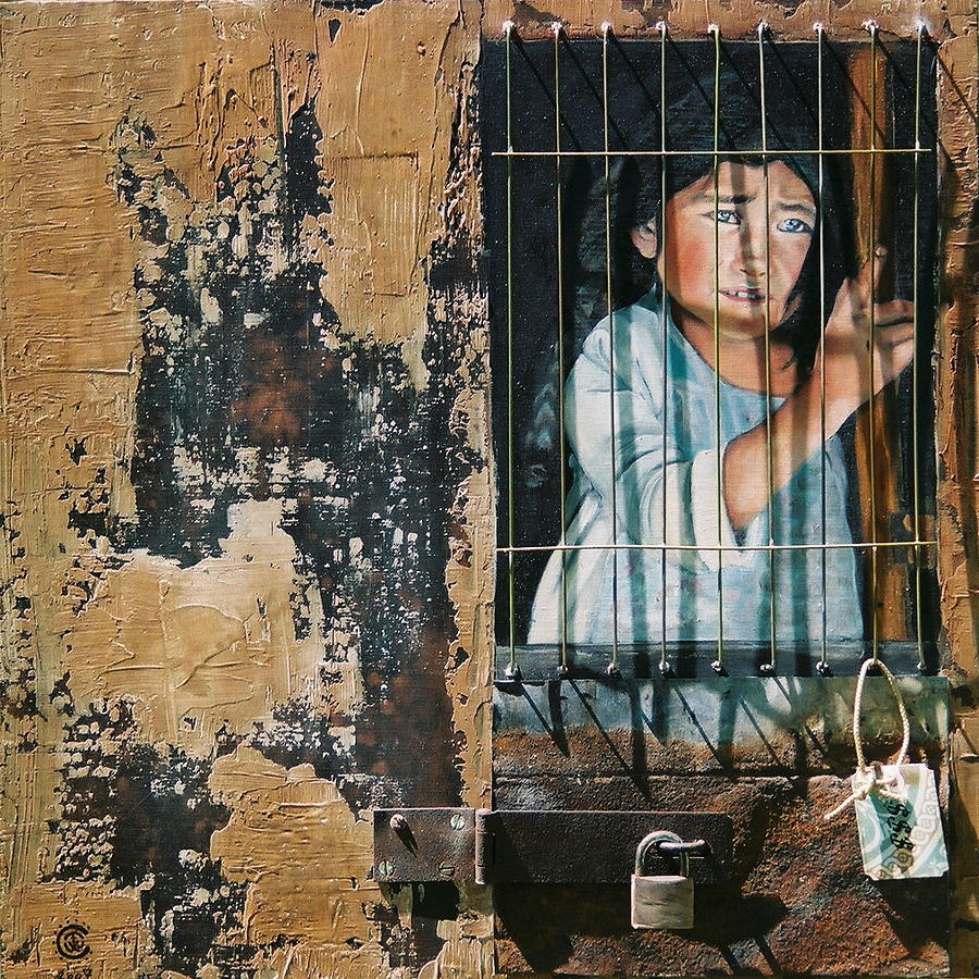 Asian Girl Painting - Captive by Teresa Carter