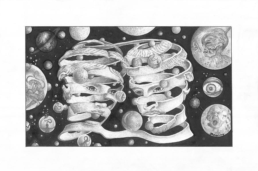 Planets Drawing - Captivity by Julian  B