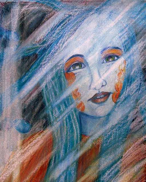 Mermaid Painting - Captured Mermaid by Kelli Maier