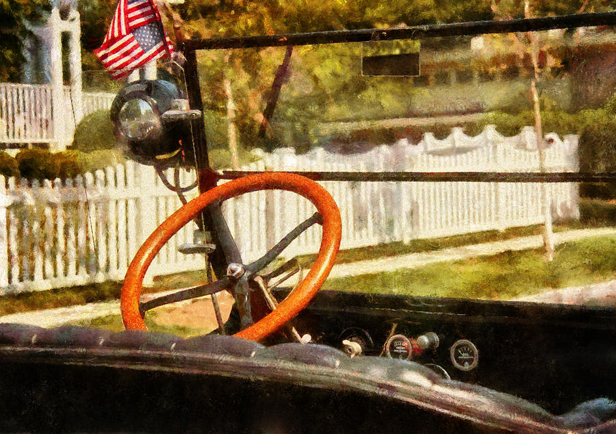 Framed Photograph - Car - Back To The Old Days by Mike Savad
