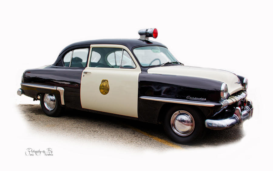 Cops Photograph - Car 34 by Mamie Thornbrue